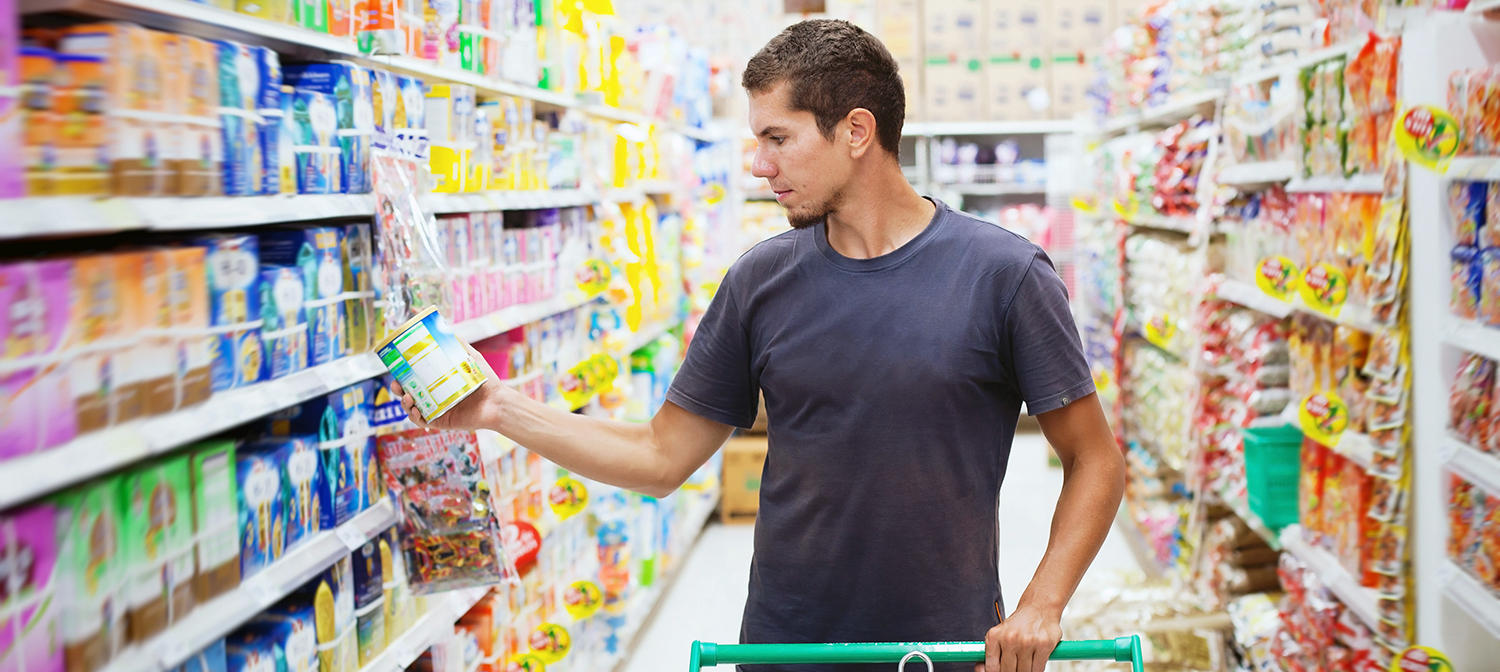 Reading labels in the grocery aisle