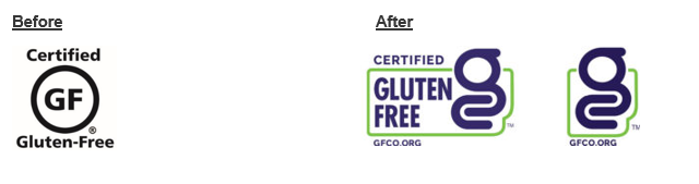 the old GFCO certification mark and the new GFCO Certification Mark