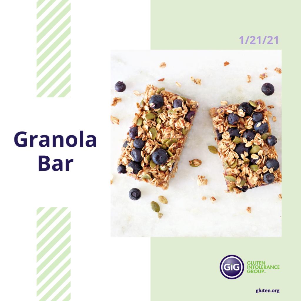 Granola bar Day New Year New Food