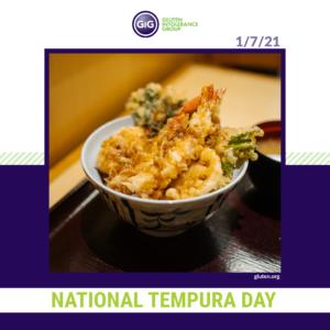 gluten-free food: tempura