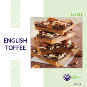 gluten-free food: english toffee