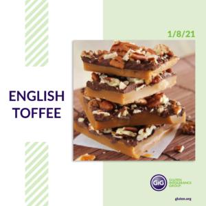 gluten-free food: english toffee